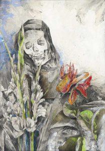 """""""Alte in Dalien"""", Mischtechnik auf Hartfaser, 2007, 100 x 70 cm"""