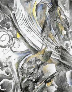 """""""Aus dem Thailand-Zyklus, Bild II"""", Mischtechnik auf Hartfaser, 2000, 90 x 70 cm"""
