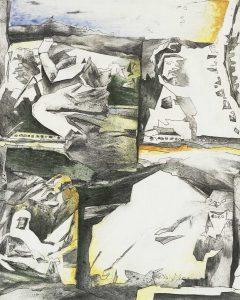 """""""Lebenszeichen"""", Mischtechnik auf Hartfaser, 2001, 49,5 x 40 cm"""