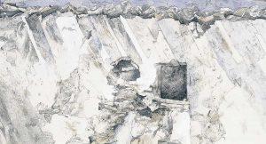 """""""Portugiesisch Wand"""", Mischtechnik auf Hartfaser,1996"""