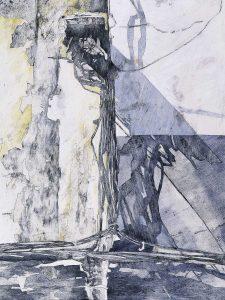 """""""Sonnengesänge"""", Mischtechnik auf Hartfaser, 1996, 80 x 60 cm"""