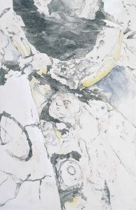 """""""Des Priesters Gewand"""", Mischtechnik auf Hartfaser, 1997, 183 x 120 cm"""