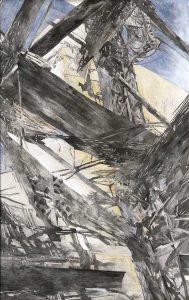 """""""Vallé du drá"""", Mischtechnik auf Hartfaser, 2008, 130 x 80 cm"""