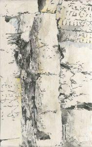 """""""Vallé du drá II"""", Mischtechnik auf Hartfaser, 2008, 130 x 80 cm"""