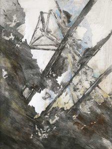 """""""Wrack I"""", Mischtechnik auf Hartfaser, 1998, 80 x 60 cm"""
