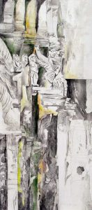 """""""Götter"""", Mischtechnik auf Hartfaser, 2002"""