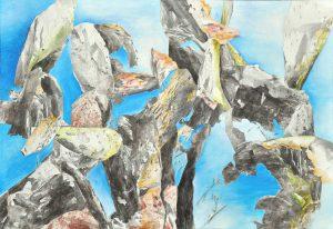 """""""Am Ozean III"""", Mischtechnik auf Leinwand, 2015, 130 x 90cm"""