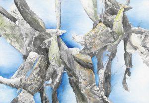 """""""Am Ozean II"""", Mischtechnik auf Leinwand, 2014, 130 x 90cm"""