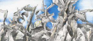 """""""Am Ozean I"""", Mischtechnik auf Leinwand, 2014, 180 x 80cm"""