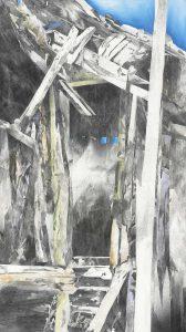 """""""Die Tür"""", Mischtechnik auf Leinwand, 2012, 130 x 90 cm"""