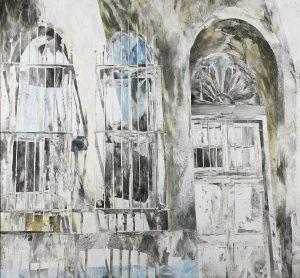 """""""Istanbuler Schatten"""", Mischtechnik auf Leinwand, 2012, 140 x 150 cm"""