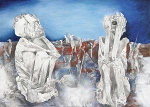 """""""Peruanisches Paar"""", Mischtechnik auf Leinwand, 2011, 100 x 140cm"""