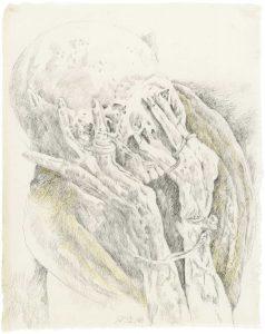 """""""Kleiner Peruanischer Träumer"""", Bleistift, Buntstift auf Papier, 2009"""