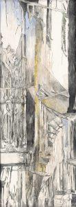 """""""Der Balkon"""", Mischtechnik auf Hartfaser, 2004, 65 x 49 cm"""