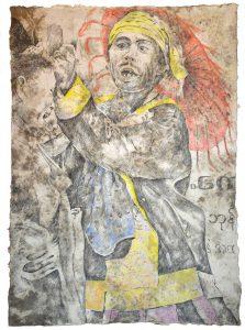 """""""Burmesischer Tänzer III"""", Zeichnung, 2018, 100 x 70 cm"""