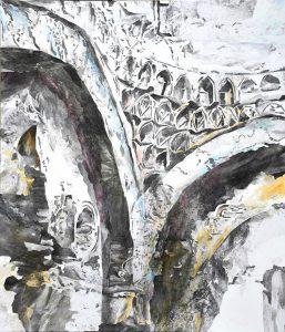 """""""Hamam 2"""", Mischtechnik auf Leinwand, 2020, 140 x 120 cm"""
